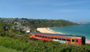 Carbis Bay holidays rail line